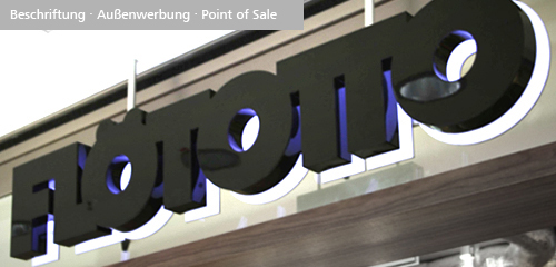 CI/CD, Point of Sale, Design Leuchtwerbung